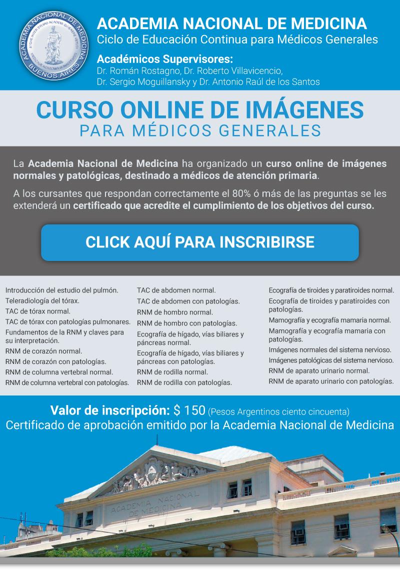 Curso online de Imágenes de la Academia Nacional de Medicina